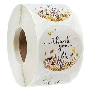 Office - 500pcs Floral Thank you stickers